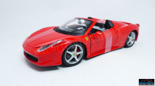 BBURAGO 1:24 - FERRARI 458 SPIDER, RED