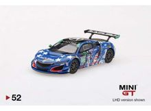 MINI GT 1:64 - ACURA NSX GT3 2017 #86 UNCLE SAM LEFT HAND DRIVE, BLUE/WHITE
