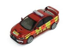 IXO 1:43 - MITSUBISHI LANCER EVO X 2011 HUMBERSIDE AND WEST MIDLANDS FIRE DEPARTMENT, RED