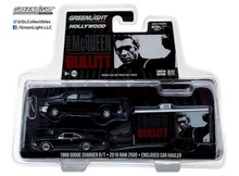 GREENLIGHT 1:64 - RAM 2500 POWER WAGON 2017 WITH 1968 BULLITT DODGE CHARGER