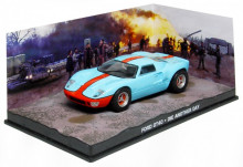ATLAS 1:43 - FORD GT40 JAMES BOND 'DIE ANOTHER DAY' 2002, LIGHT BLUE/ORANGE