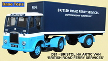 BASE TOYS MODELS 1:76 - BRISTOL HA ARTIC - BRITISH ROAD FER (WSL)