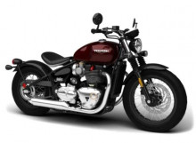 BBURAGO 1:18 - TRIUMPH BONNEVILLE BOBBER, DARK RED/BLACK