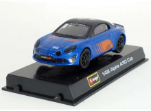 BBURAGO 1:43 - ALPINE A110 2018 #76, BLUE/ORANGE