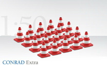 Conrad 1:50 - Traffic Cones - Red/White
