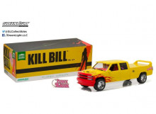 GREENLIGHT 1:18 - CHEVROLET C-2500 1997 CREW CAB SILVERADO *KILL BILL PUSSY WAGON* ARTISAN COLLECTION, YELLOW/PINK.
