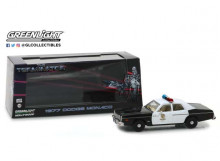 GREENLIGHT 1:43 - DODGE MONACO 1977 METROPOLITAN POLICE *THE TERMINATOR (1984)* HOLLYWOOD SERIES 19, BLACK/WHIT