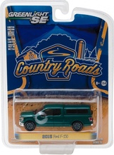 GREENLIGHT 1:64 - 2015 FORD F-150 WITH CAMPER SHELL 'COUNTRY ROADS SERIES 15' GREEN