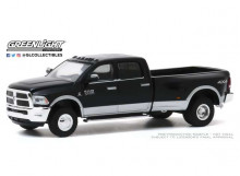 GREENLIGHT 1:64 - RAM 3500 2018 DUALLY HARVEST EDITION *DUALLY DRIVERS SERIES 4*, BRILLIANT BLACK