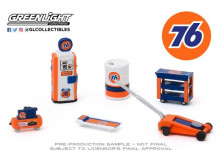 GREENLIGHT 1:64 - UNION 76 *SHOP TOOL ACCESSORIES SERIES 2*, BLUE/ORANGE