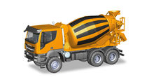 HERPA 1:87 - IVECO TRAKKER 6X6 CONCRET MIXER TRUCK, ORANGE