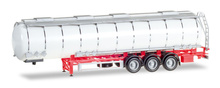 HERPA 1:87 - Jumbo tank trailer 3a, Chassis red