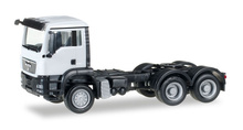 HERPA 1:87 - MAN TGS M all-wheel rigid tractor, white