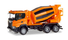 HERPA 1:87 - SCANIA CG 17 6X6 CONCRETE TRUCK, MUNICIPAL ORANGE
