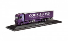 "HERPA 1:87 - Scania CS 20 HD curtain canvas semitrailer ""Coles & Sons"" (Großbritannien/Banbury)"