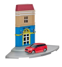 HERPA CITY 1:64 - HOTEL WITH RANGE ROVER EVOQUE DIE-CAST MODEL