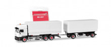 HERPA (MINIKIT) 1:87 - Steyr F 2000 interchangeable pick-up truck, white