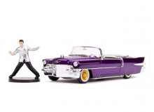 JADA 1:24 - CADILLAC ELDORADO 1956 WITH ELVIS PRESLEY FIGURE, PURPLE