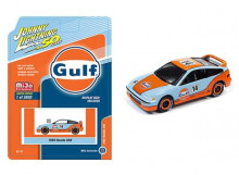 JOHNNY LIGHTNING 1:64 - HONDA CRX GULF RACING, BLUE/ORANGE