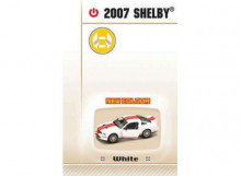 LUCKY DIECAST 1:24 - SHELBY GT500 2007 *ROAD SIGNATURE*, WHITE WITH RED STRIPE AND GREY INTERIOR.