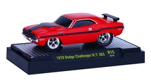 M2 MACHINES 1:64 - DODGE CHALLENGER R/T 383 1970 'GROUND POUNDERS RELEASE 15', RED