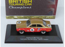 MAGAZINE MODELS 1:43 - FORD ESCORT MK1 1968 TWIN CAM ALAN MANN RACING #16 FRANK GARDNER BTCC CHAMPION, RED/GOLD