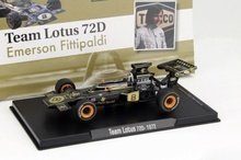 MAGAZINE MODELS 1:43 - LOTUS 72D 1972 #8 'FITTIPALDI' JPS, BLACK/GOLD