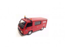 MAGAZINE MODELS 1:43 - MERCEDES BENZ MB180 BOMBEROS-FIRE BRIGADE *ZARAGOZA*, RED/WHITE