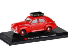 MAGAZINE MODELS 1:43 - PEUGEOT 203 1960 *CASABLANCA TAXI*, RED