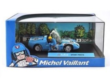 MAGAZINE MODELS 1:43 - SPORT PROTO #14 'MICHEL VAILLANT SERIES', LIGHT BLUE/WHITE