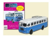 MAGAZINE MODELS 1:72 - SAN H-100A BUS, BLUE/WHITE