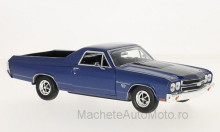 MOTORMAX 1:24 - CHEVROLET EL CAMINO, METALLIC-BLUE/BLACK