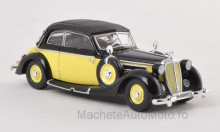 RICKO 1:87 - HORCH 930 V CONVERTIBLE, YELLOW/BLACK