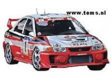 TAMIYA 1:24 - MITSUBISHI LANCER EVO 5 MAKINEN BURNS CATALUNYA RALLIART 1998