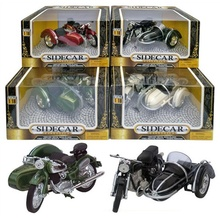 TOYWAY 1:18 - MOTOR CYCLE & SIDECAR BLACK