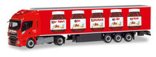 HERPA 1:87 - IVECO STRALIS HI-WAY XP REFRIGERATED BOX TRAILER 'NUTELLA / SPEDITION MICHEL'
