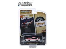 GREENLIGHT 1:64 - FORD MUSTANG 1978 II COBRA II *COBRA BITES MAN. BOTH LIVE* VINTAGE AD CARS SERIES 1, WHITE/RED