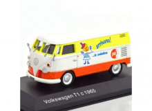 MAGAZINE MODELS 1:43 - VOLKSWAGEN T1C BUS 1965, WHITE/ORANGE/YELLOW