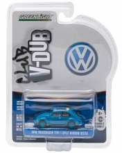 GREENLIGHT 1:64 - VOLKSWAGEN BEETLE SPLIT WINDOW WITH OPEN TOP 'CLUB VEE-DUB SERIES 2', DARK BLUE - 1946