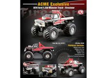 ACME 1:64 - FORD F-250 1974 MONSTER TRUCK *FIRESTONE*, BLACK/RED