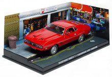 ATLAS 1:43 - FORD MUSTANG MACH1 JAMES BOND 'DIAMONDS ARE FOREVE, RED