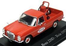 ATLAS 1:43 - MERCEDES BENZ 220D TECIN 1972 - SERVICE VEHICLES, RED