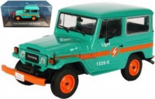 ATLAS 1:43 - TOYOTA BANDEIRANTE LIGHT ELETRICIDADE, GREEN/ORANGE