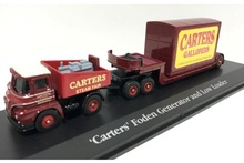 ATLAS 1:76 - FODEN BALLAST TRACTOR GENERATOR LOW LOADER W/CONTAINER LOAD, RED/YELLOW
