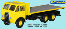 BASE TOYS MODELS 1:76 - FODEN DG 3AX FLATBED - YELLOW
