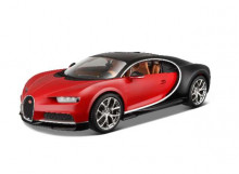 BBURAGO 1:18 - BUGATTI CHIRON 2016, RED/BLACK