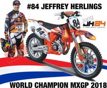 BBURAGO 1:18 - KTM SX 450 2018 2018 #84 JEFFREY HERLINGS RED B