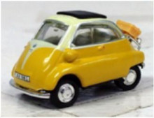 CARARAMA 1:43 - BMW ISETTA 250 - YELLOW/CREAM