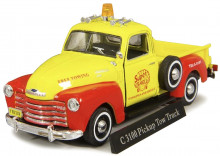 CARARAMA 1:43 - CHEVROLET C3100 PICKUP TRUCK, YELLOW/RED