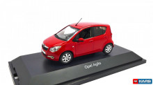 DEALER MODEL 1:43 - OPEL AGILA MK2 2008 - RED (WSL)